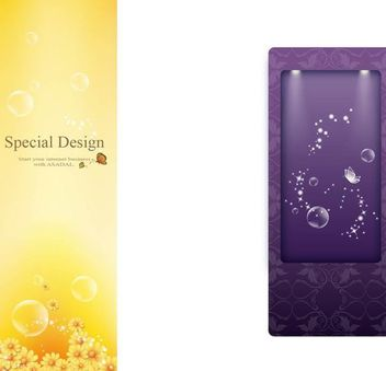 Brochure Template and Crystal Background - Free vector #167427