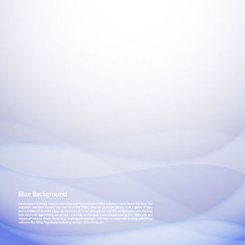 Abstract Blue Wave Background - vector gratuit #167647