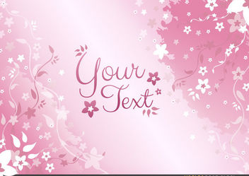 Pink Floral Background - Free vector #167707