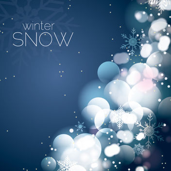 Festive Background with Glares & Snow - vector #167867 gratis