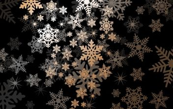 Snowflake Background with Light Shade - Free vector #168107