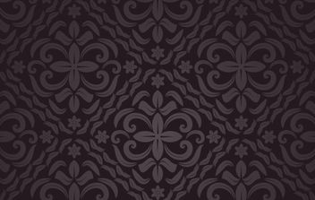 Brown Floral Seamless Pattern - бесплатный vector #168207
