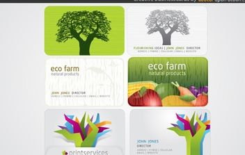Creative Business Cards - Free vector #168247