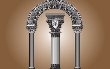 Vintage Decorative Building Element - vector gratuit #168277