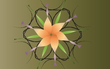 Floral Decorative Vector - vector gratuit(e) #168297