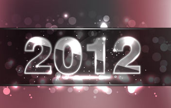 New Year Design 2012 - Free vector #168587