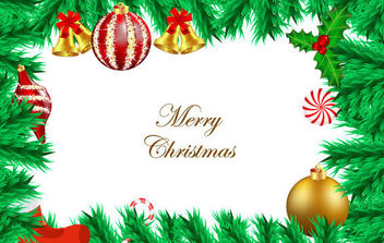 Vector Christmas Background - vector gratuit #168597