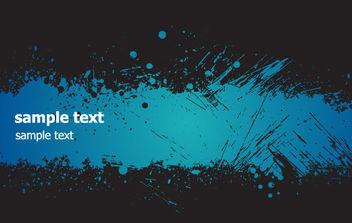 Blue Grunge Banner - Kostenloses vector #168747