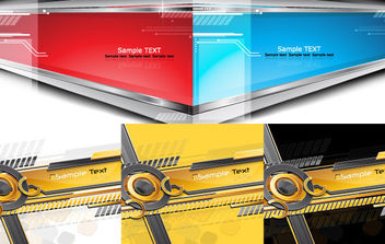Modern Futuristic Backgrounds - vector #168757 gratis