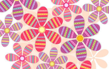 Flower Vector Background - vector #168847 gratis
