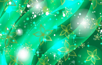 Green flower in shinning green - Free vector #168857