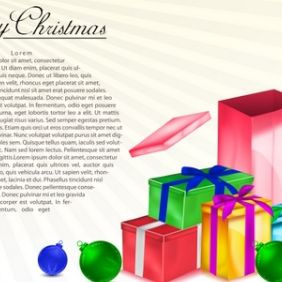 Christmas Gift Boxes - Free vector #168887