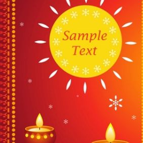 Diwali Card - vector gratuit #168897