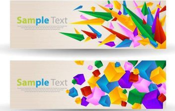 Abstract Colorful Banner - Free vector #168977
