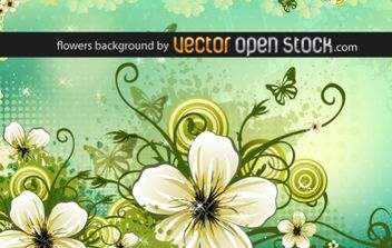 Flowers background - vector #169437 gratis