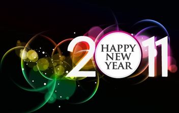 2011 HAPPY NEW YEAR POSTER FREE VECTOR - vector gratuit #169447