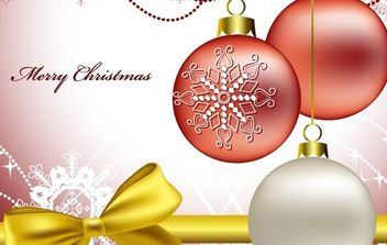 White and red christmas vectors - vector gratuit #169467
