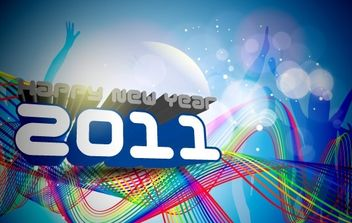 Happy New Year 2011 Template - Free vector #169507