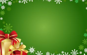 FREE VECTOR CHRISTMAS GIFT AND BACKGROUND - бесплатный vector #169597