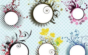 Floral frames - vector #169657 gratis