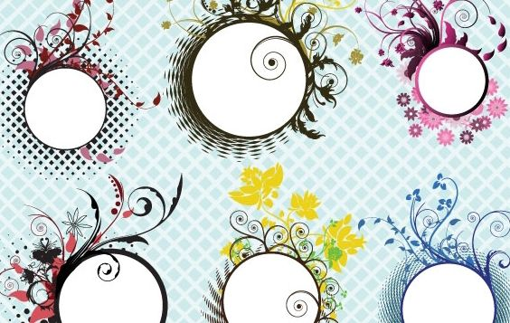 Floral frames - Free vector #169657
