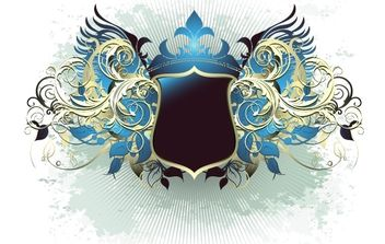 Ornate heraldic shield - Free vector #169877