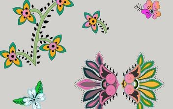 vector flowers - Free vector #170087