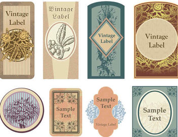 Decorative Vintage Label Pack - Kostenloses vector #170247