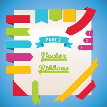 Colorful Flipped Labeled Ribbon Set - Free vector #170277