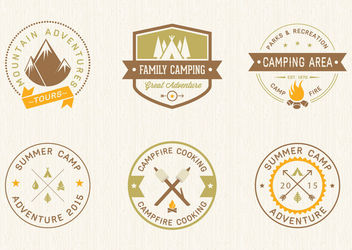 Vintage Camping Label Set - Free vector #170317
