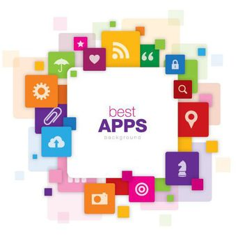 Colorful Best Apps Technological Promo - Free vector #170367