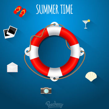 Summer Concept Infographic with Icons - Kostenloses vector #170457