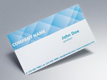 Crossing Check Corporate Business Card - vector #170467 gratis
