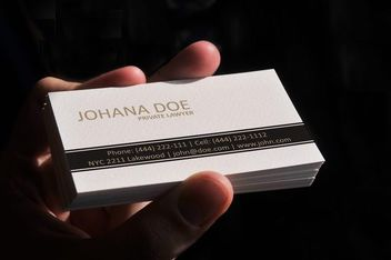 Simple Lawyer Business Card Template - Free vector #170487