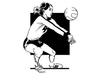 Volleyball Girl Portrait Sketch - Free vector #170647