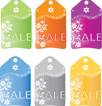 Floral Sale Label Template - vector #170827 gratis