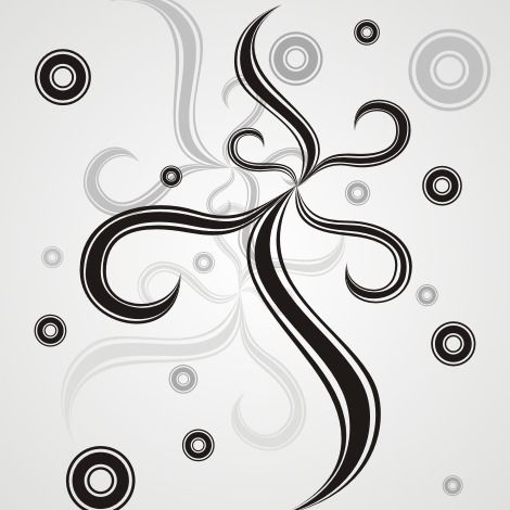 Circles and swirls - Free vector #170877