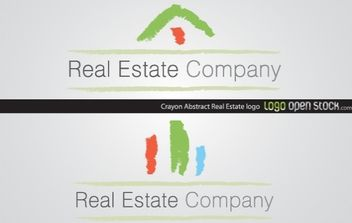 Crayon Abstract Real Estate - vector gratuit #170947