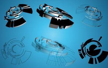 3D Shapes Graphics - Kostenloses vector #171117