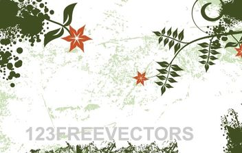 Flower Grunge Background - Kostenloses vector #171157