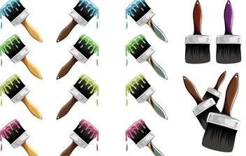 Paint Brush Vector - vector #171367 gratis