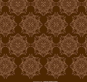 Celtic ornaments brown pattern - Free vector #171437