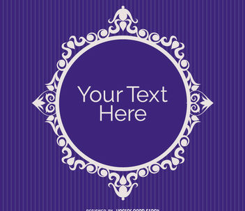 Elegant circle ornament purple - Free vector #171477
