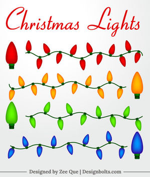 Colorful Christmas Decoration Lights - vector gratuit #171547