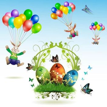 Creative Easter Elements - Free vector #171707