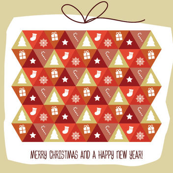 Pattern with Christmas Elements - Free vector #171777