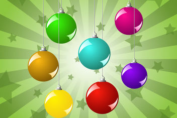 Glossy Colorful Christmas Ball Pack - Free vector #171787