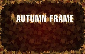 Frame with Autumn Leaves - Kostenloses vector #171937