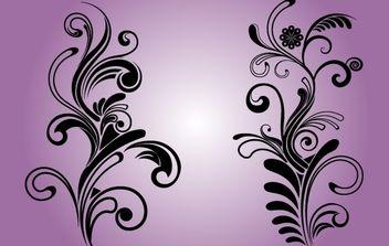 B&W Floral Decorative Ornaments - Kostenloses vector #171977