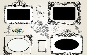 Grungy Vintage Ornamental Frame Template - Free vector #172037